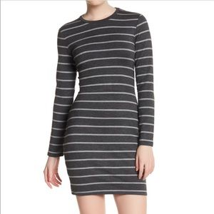 Cupcakes and Cashmere Malbec Striped Dress